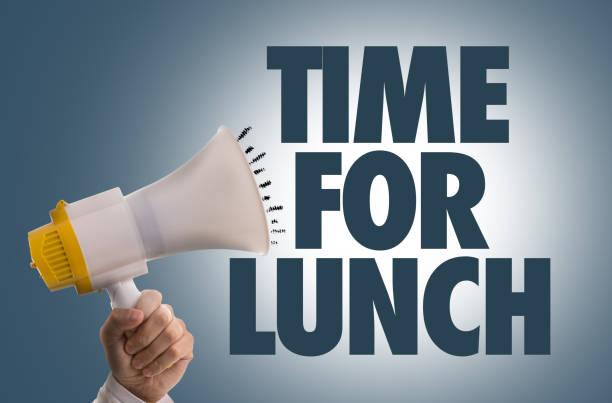 Tiempo para el almuerzo - foto de stock