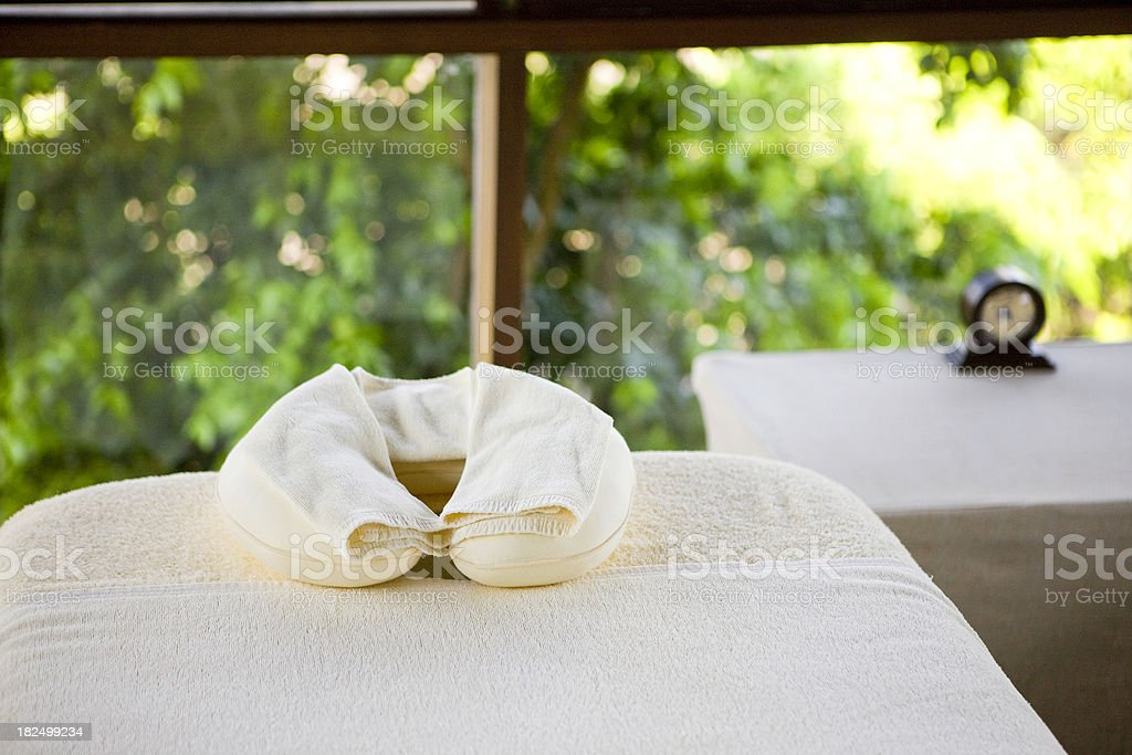 Time for massage stock photo