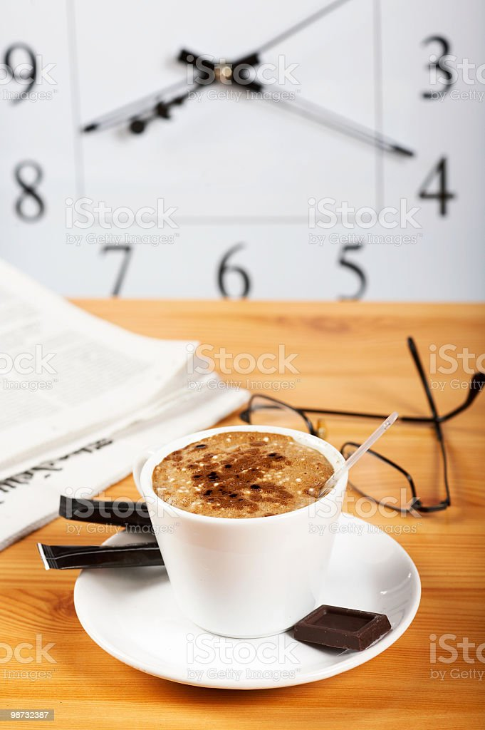 time for morning coffee royalty-free stock photo