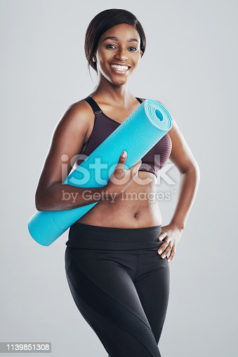 508386622 istock photo Time for my yoga session 1139851308
