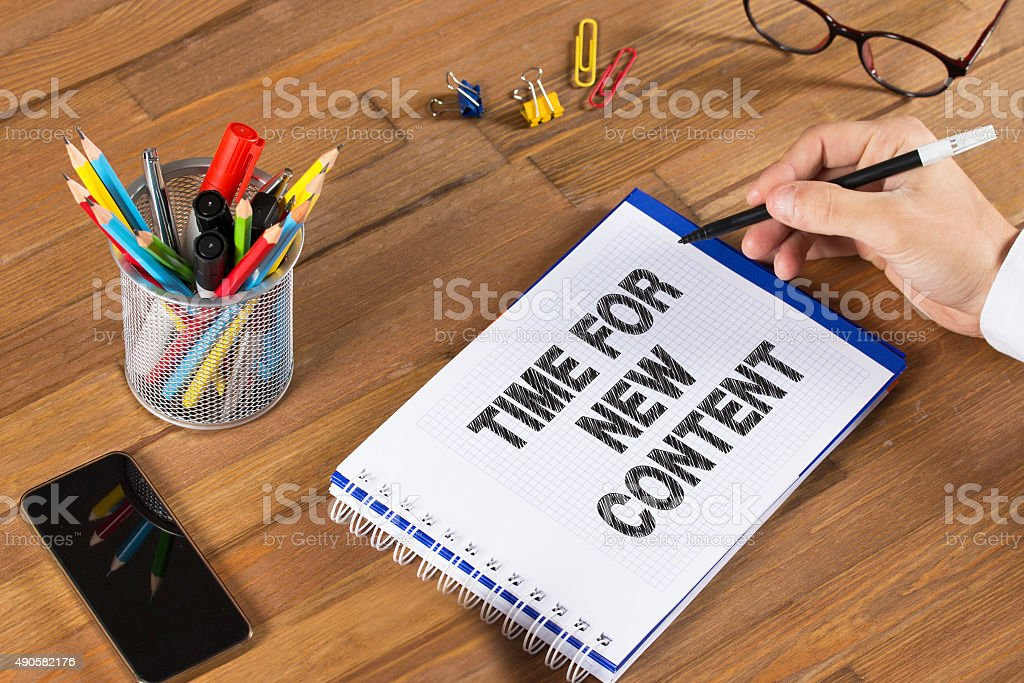 Time for New Content stock photo