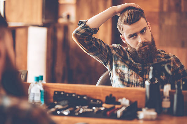 time for new haircut. - beard stock pictures, royalty-free photos & images