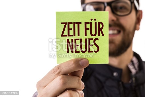istock Time for New (in German) 837692882