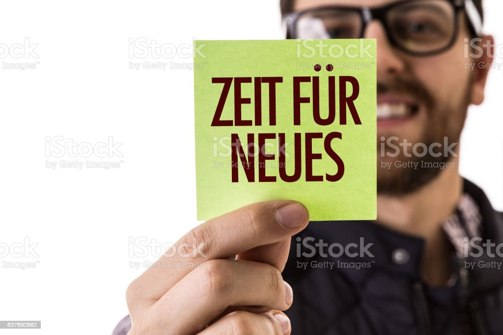 Hora de novo (em alemão) - foto de acervo