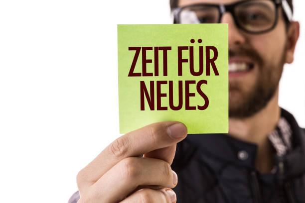 zeit für neue (auf deutsch) - gründe zitate stock-fotos und bilder