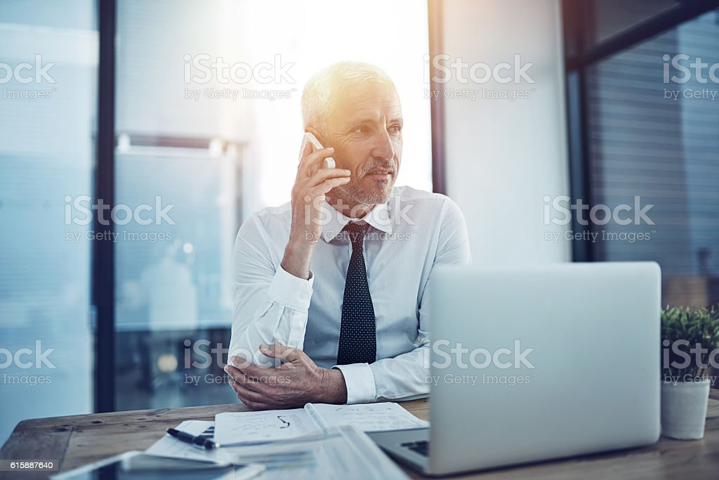 TIme for one more business call stock photo