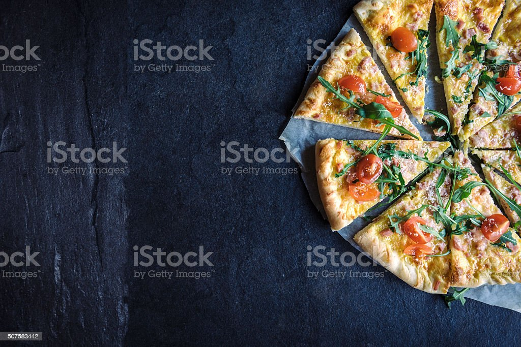 Time for pizza stock photo