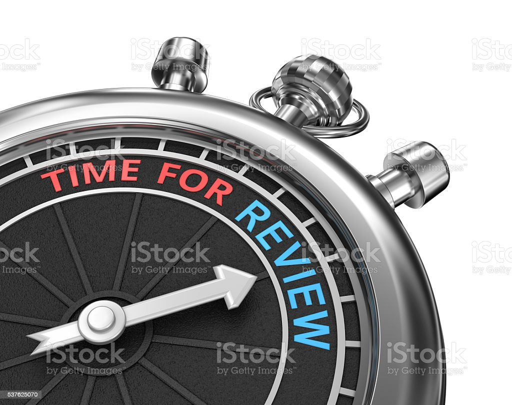 Time for review, 3d concept stock photo