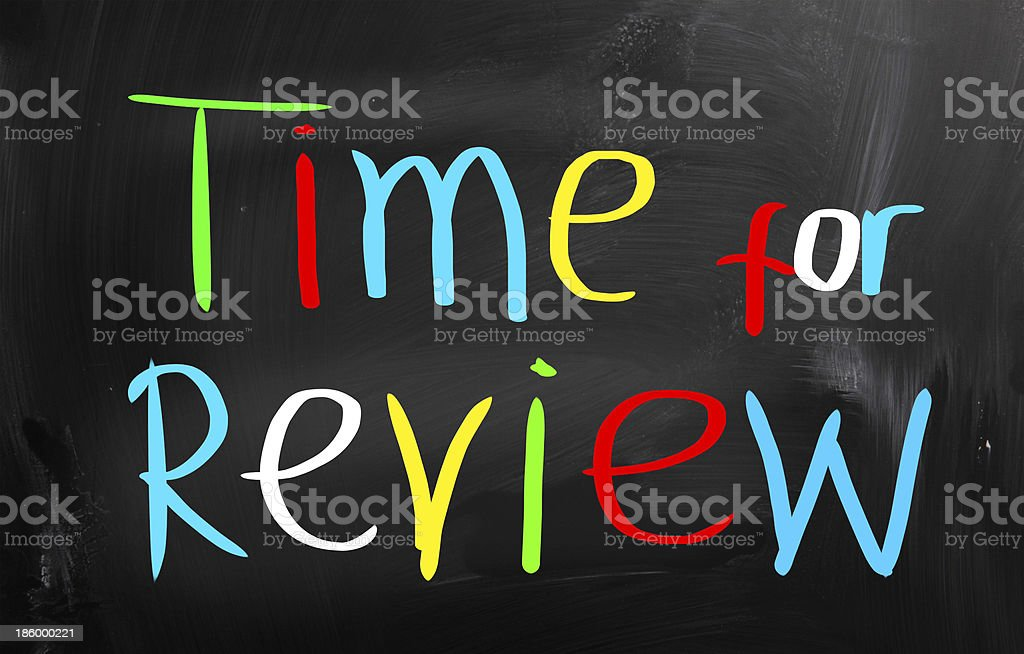 Time For Review Concept royalty-free stock photo