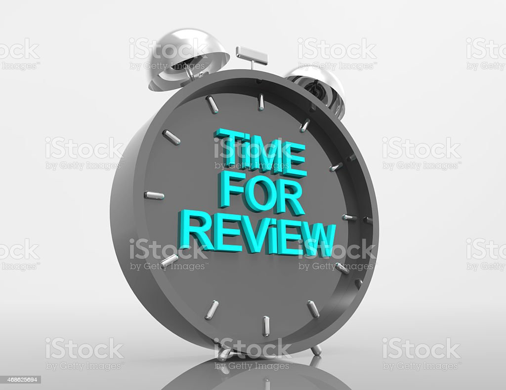 Time for Review stock photo
