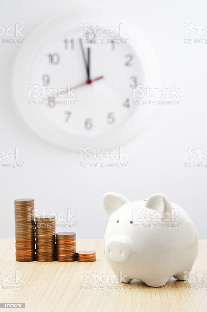 Time for savings royalty-free stock photo