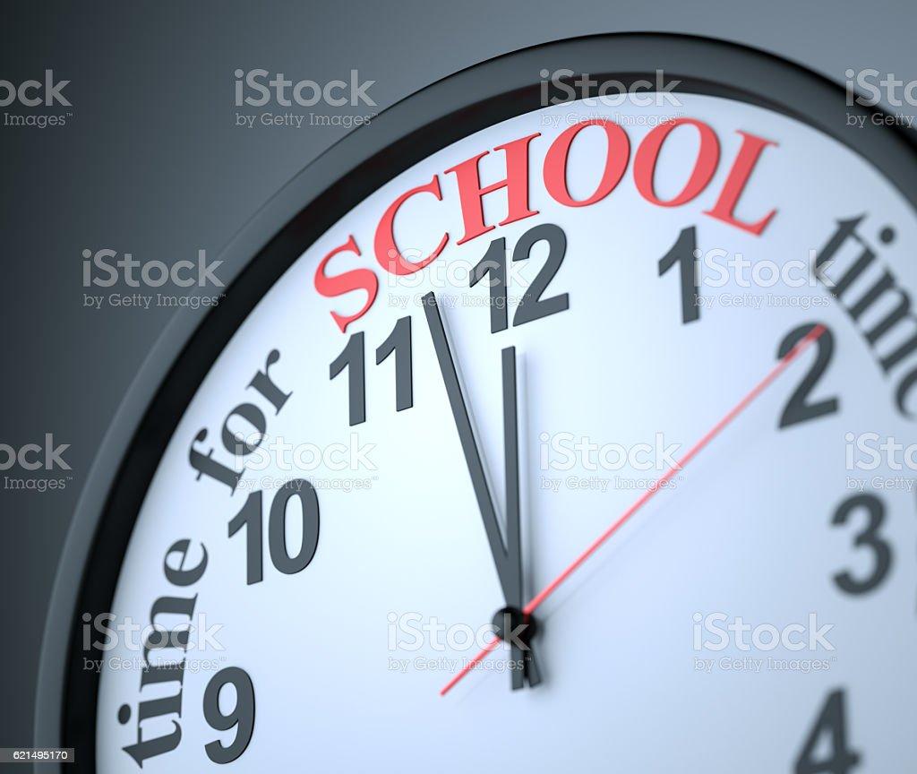 Temps pour l'école  photo libre de droits