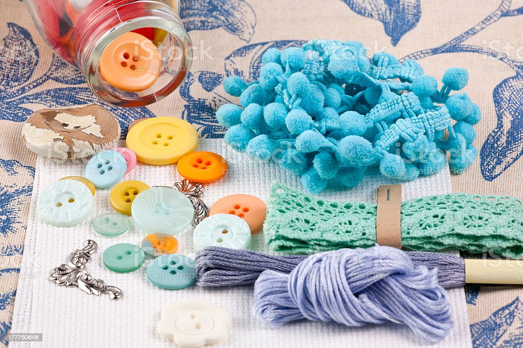 Time for sewing royalty-free stock photo