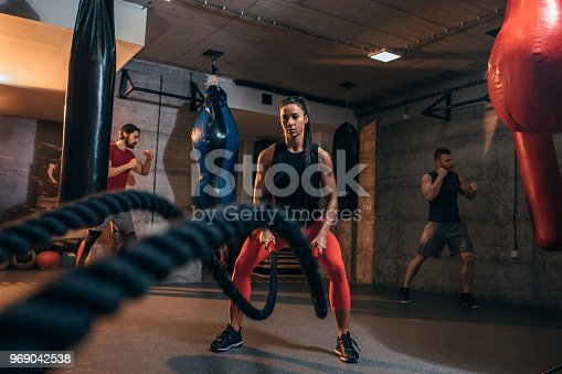 istock Time for some battle ropes 969042538