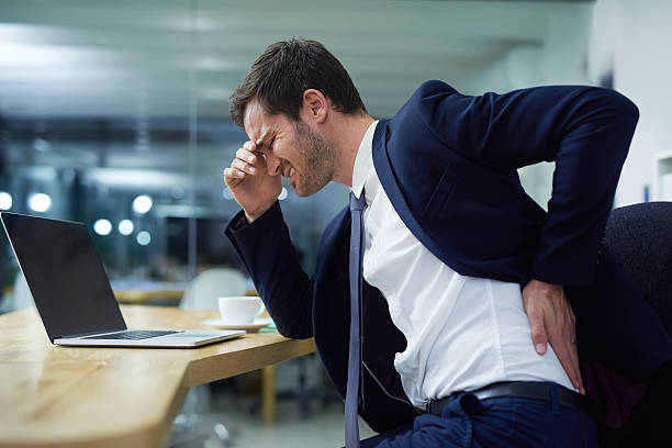 Time for some lumbar support stock photo