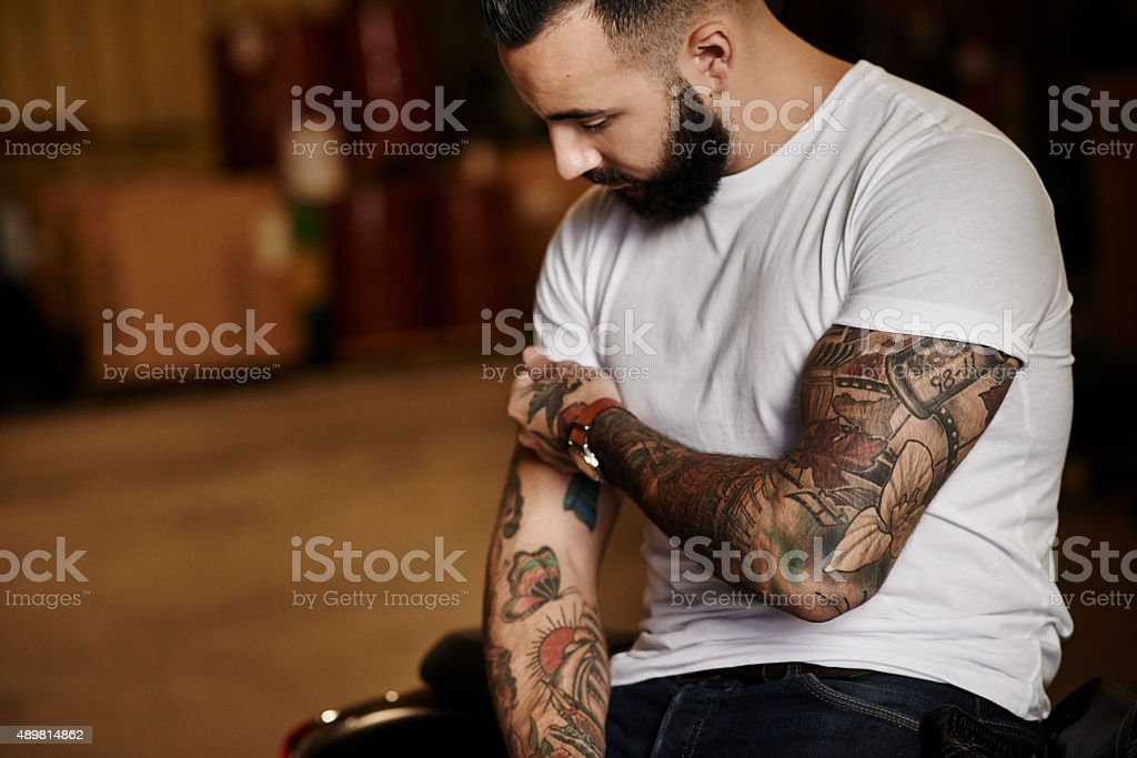 Time for some more tattoos? stock photo