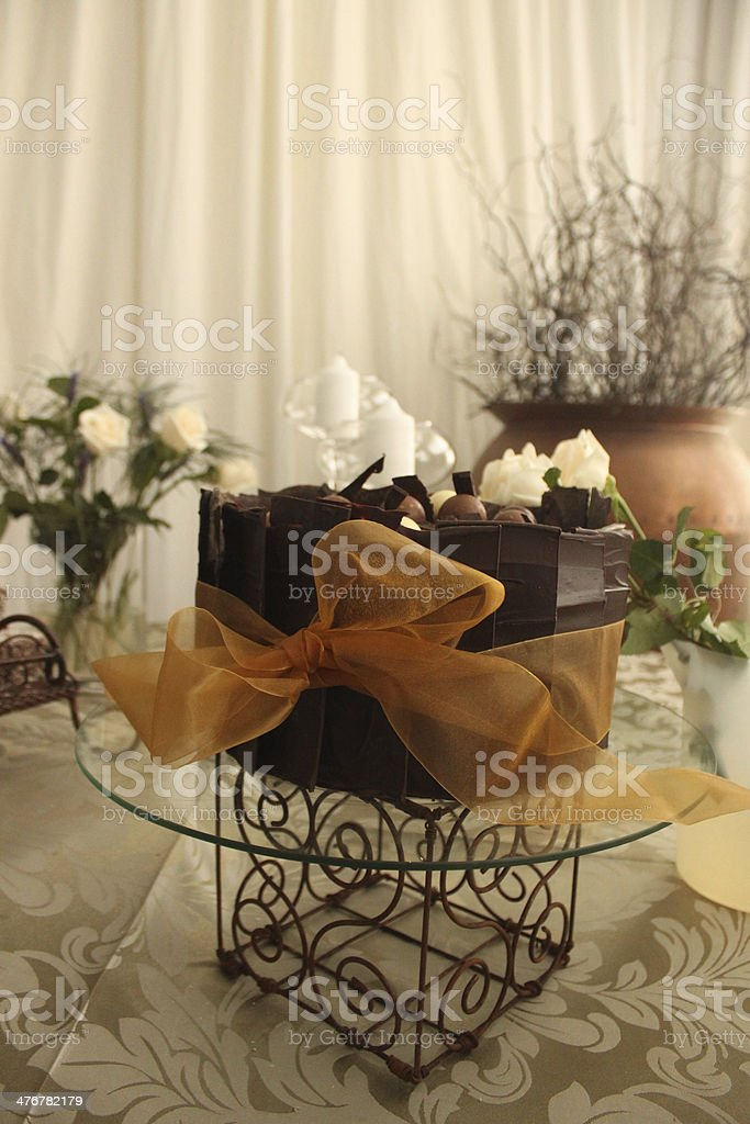 Time for some wedding cake! stock photo