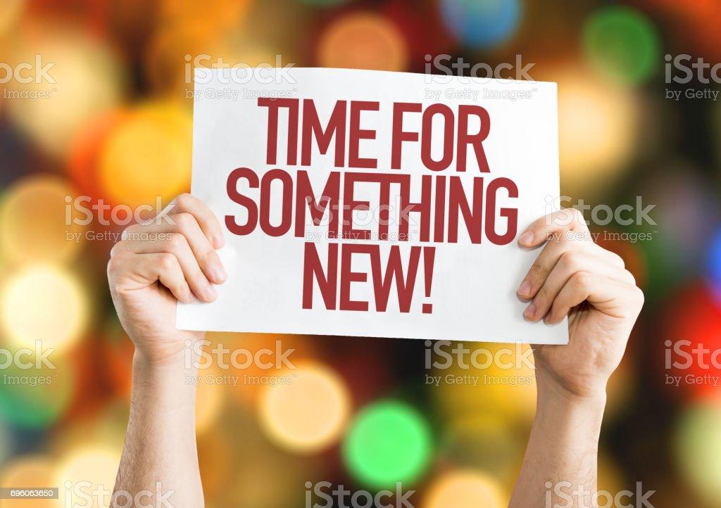 Zeit für etwas neues – Foto