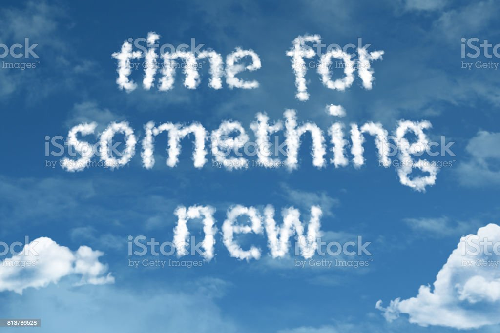 Time for Something New stock photo