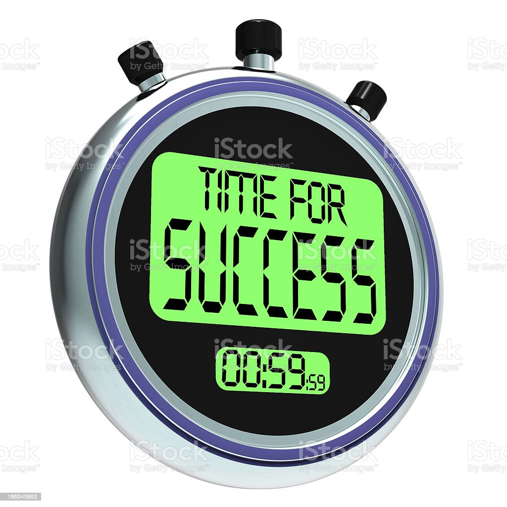 Time For Success Message Meaning Victory And Winning royalty-free stock photo