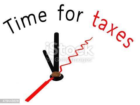 Time for Taxes with clock concept