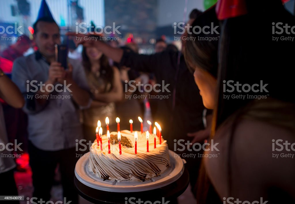 Time for the Birthday Cake! stock photo