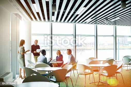 istock Time for the morning team catch up 643625442
