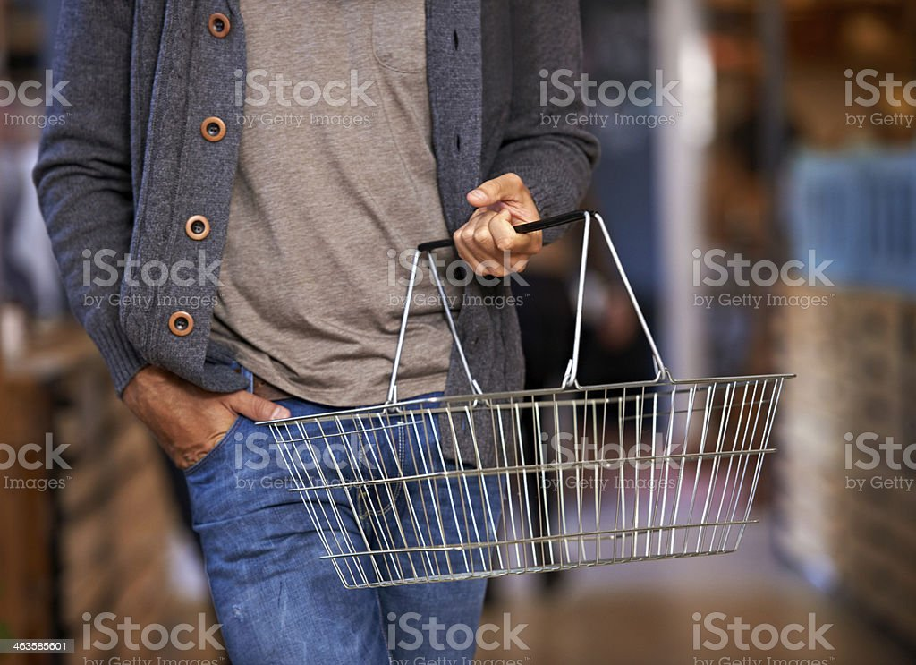 Time for this week's shopping stock photo