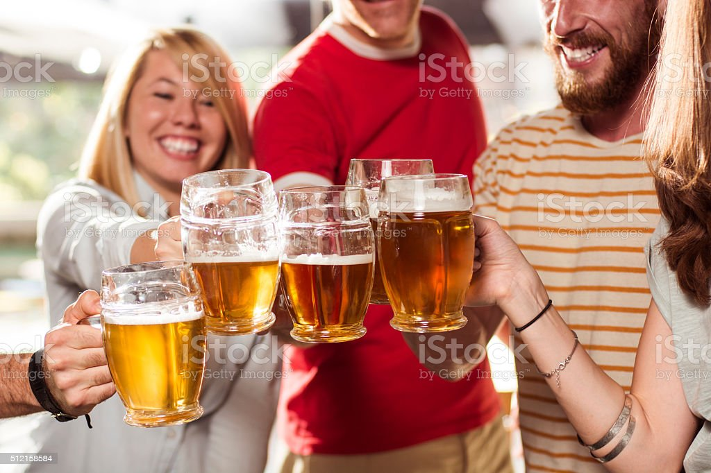 Time for toast! stock photo
