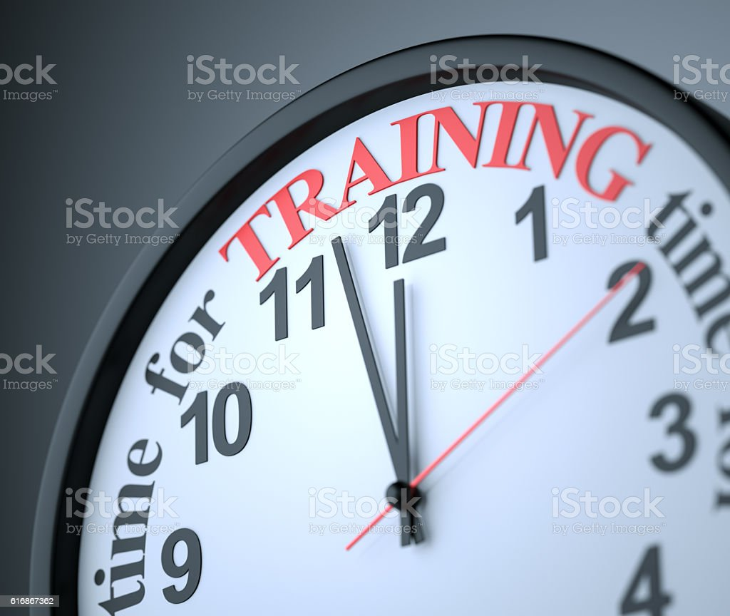 Time for Training stock photo