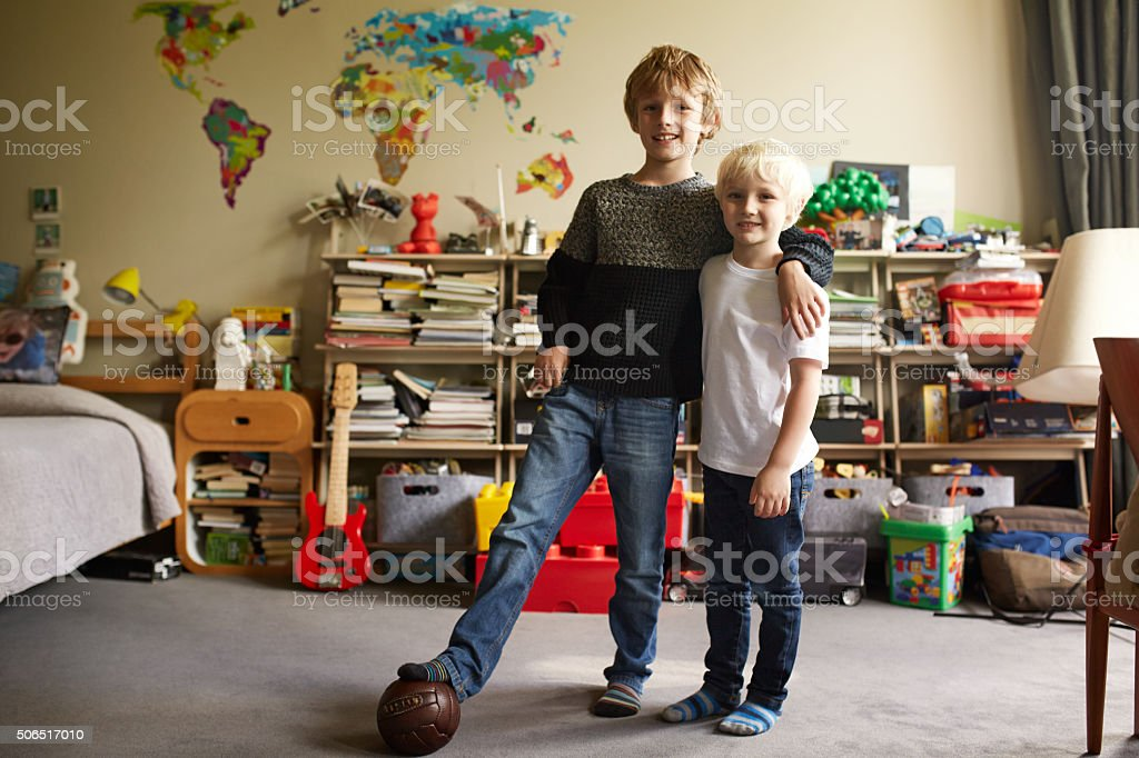 Time for us to mess this place up! stock photo