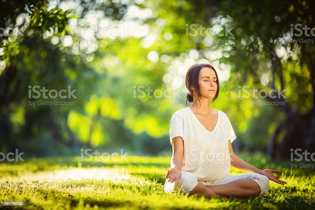 Time for yoga stock photo
