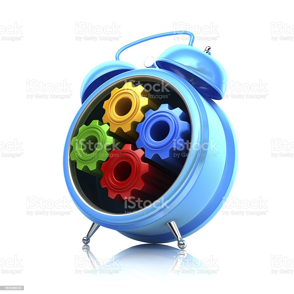 time gears royalty-free stock photo