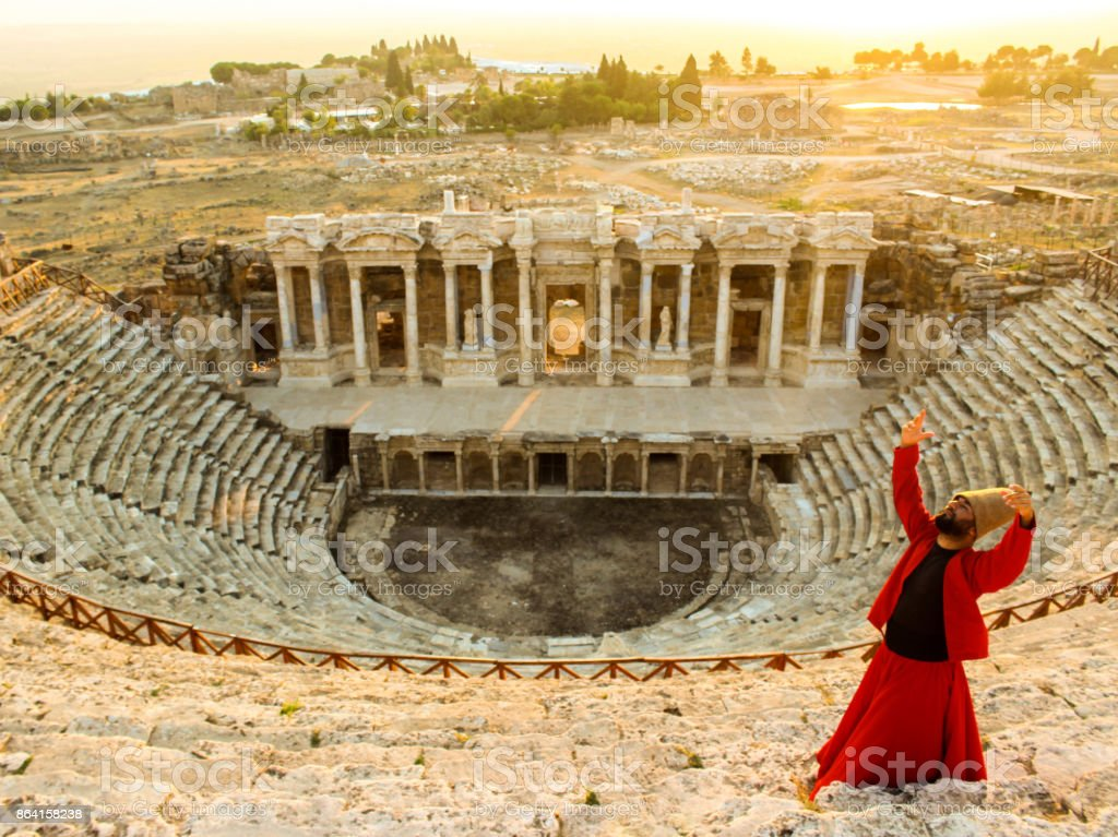 Time goes by...Hierapolis royalty-free stock photo