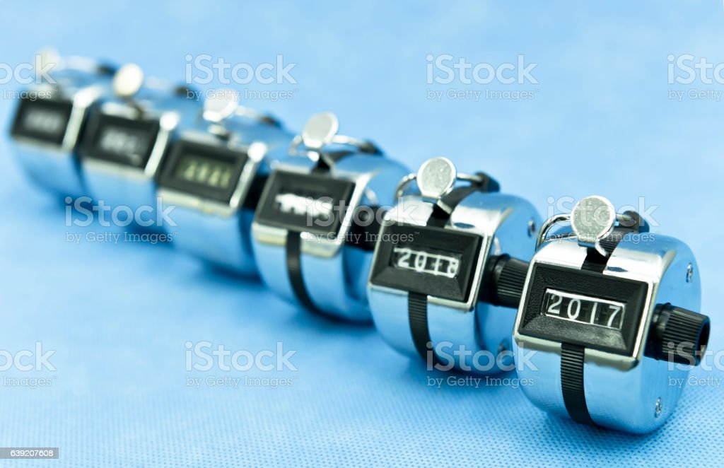 Time goes fast, like push the clicker stock photo
