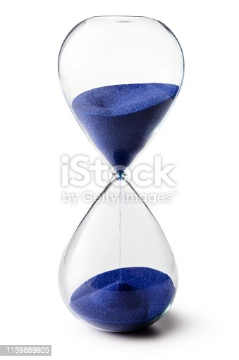 Time: Hourglass Isolated on White Background