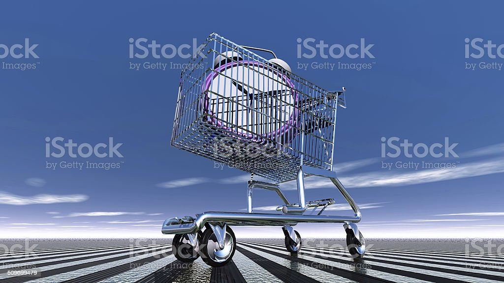 Die Zeit in den Einkaufswagen – Foto