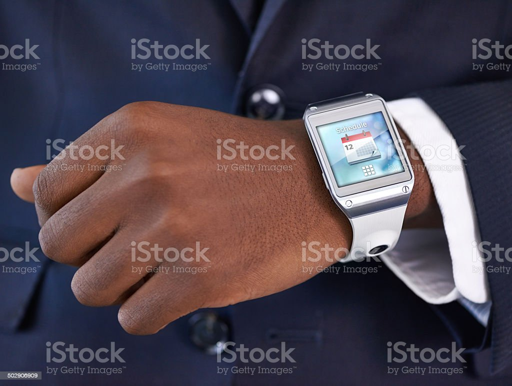 Time in the modern age stock photo