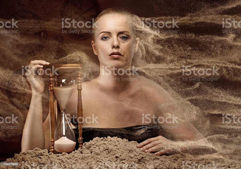 time is damage royalty-free stock photo