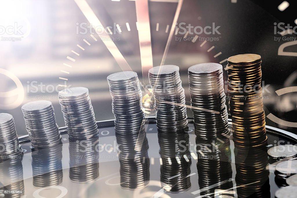 Temps est de l'argent et la richesse photo libre de droits