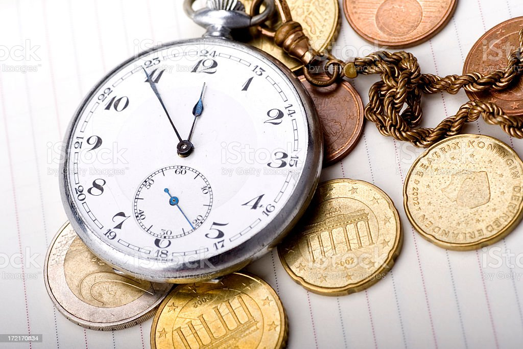time is money - color stock photo
