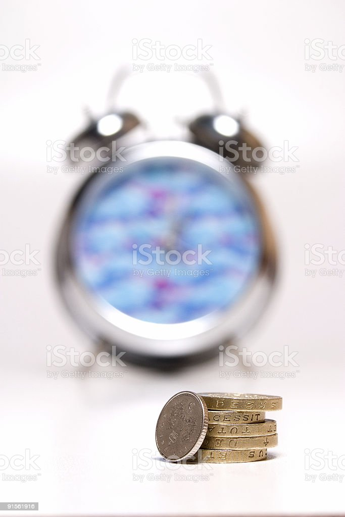Time is Money - Colour royalty-free stock photo