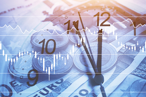 time is money concept, business and finance