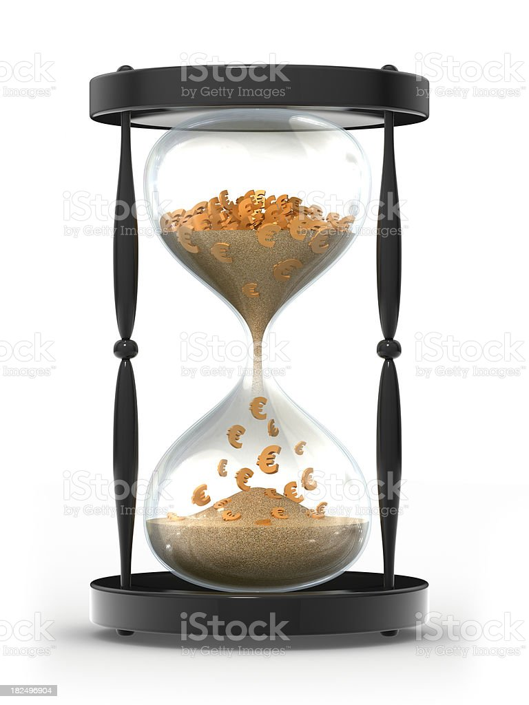 Time is money concept - Euro symbols royalty-free stock photo
