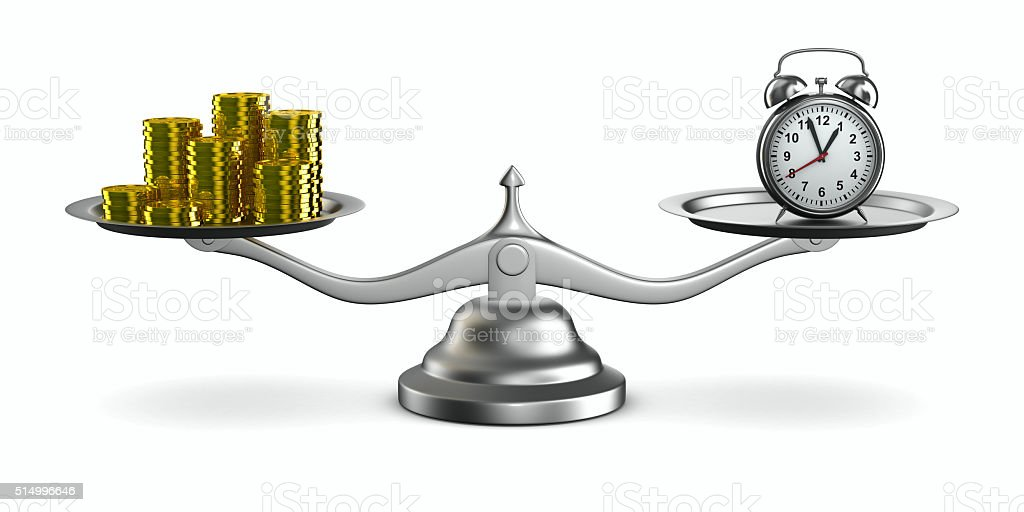 Time is money. Isolated 3D image stock photo