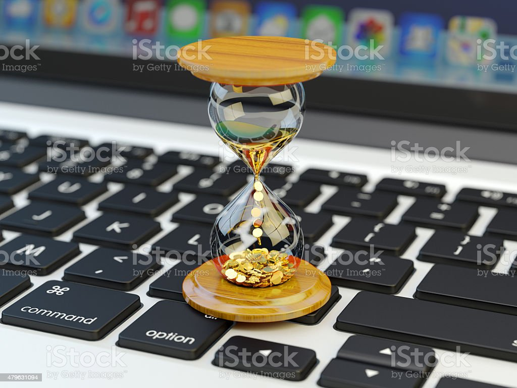 Time is money, make money and time management concept stock photo