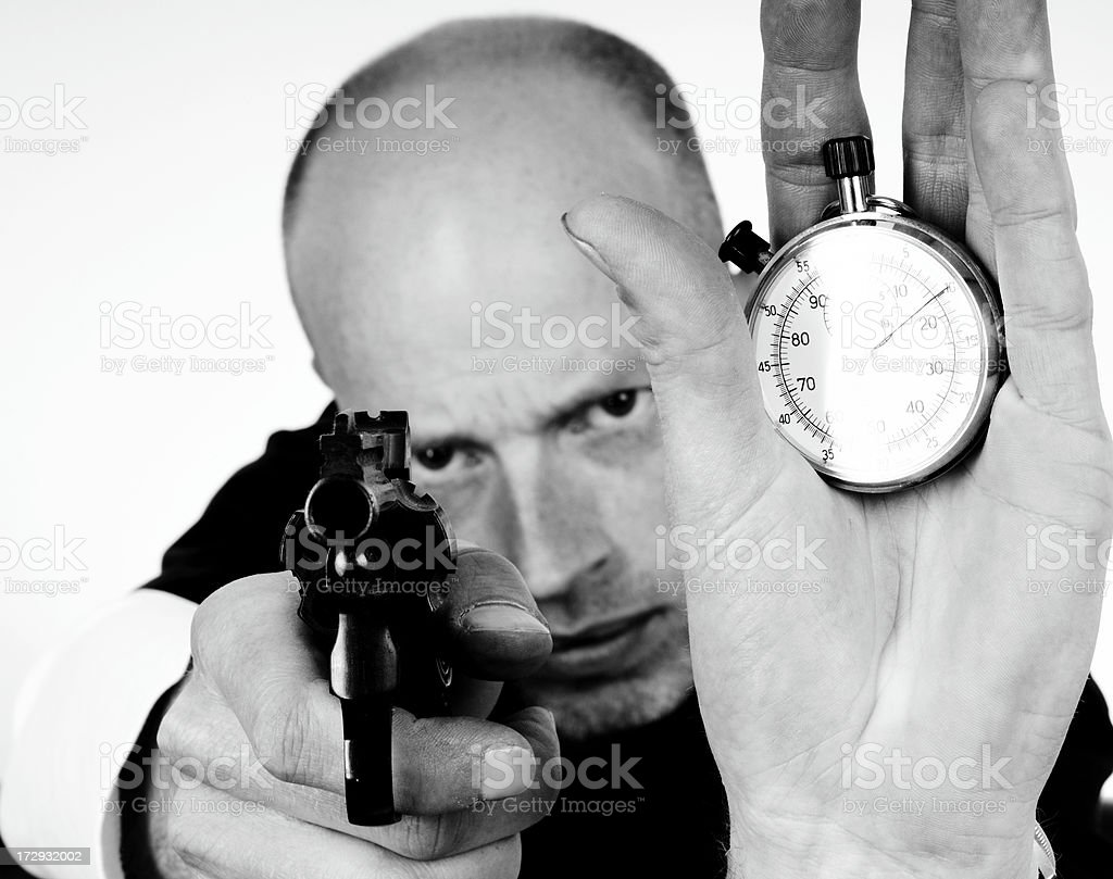 time is money man royalty-free stock photo