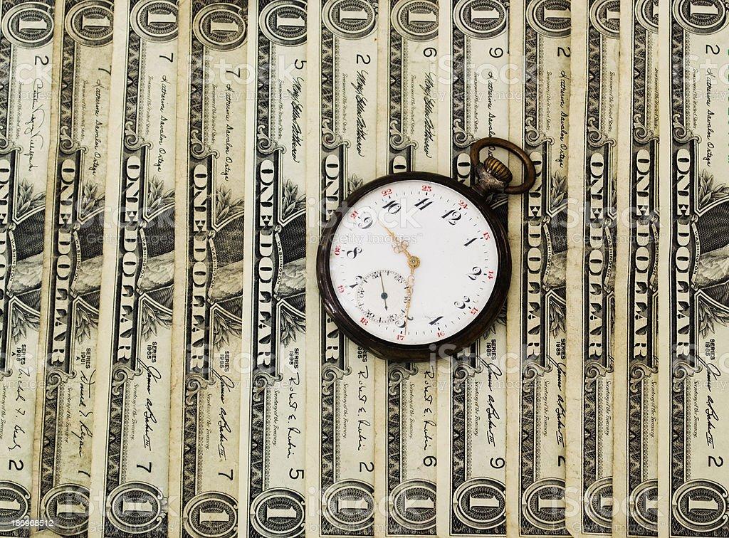 El tiempo es dinero - foto de stock