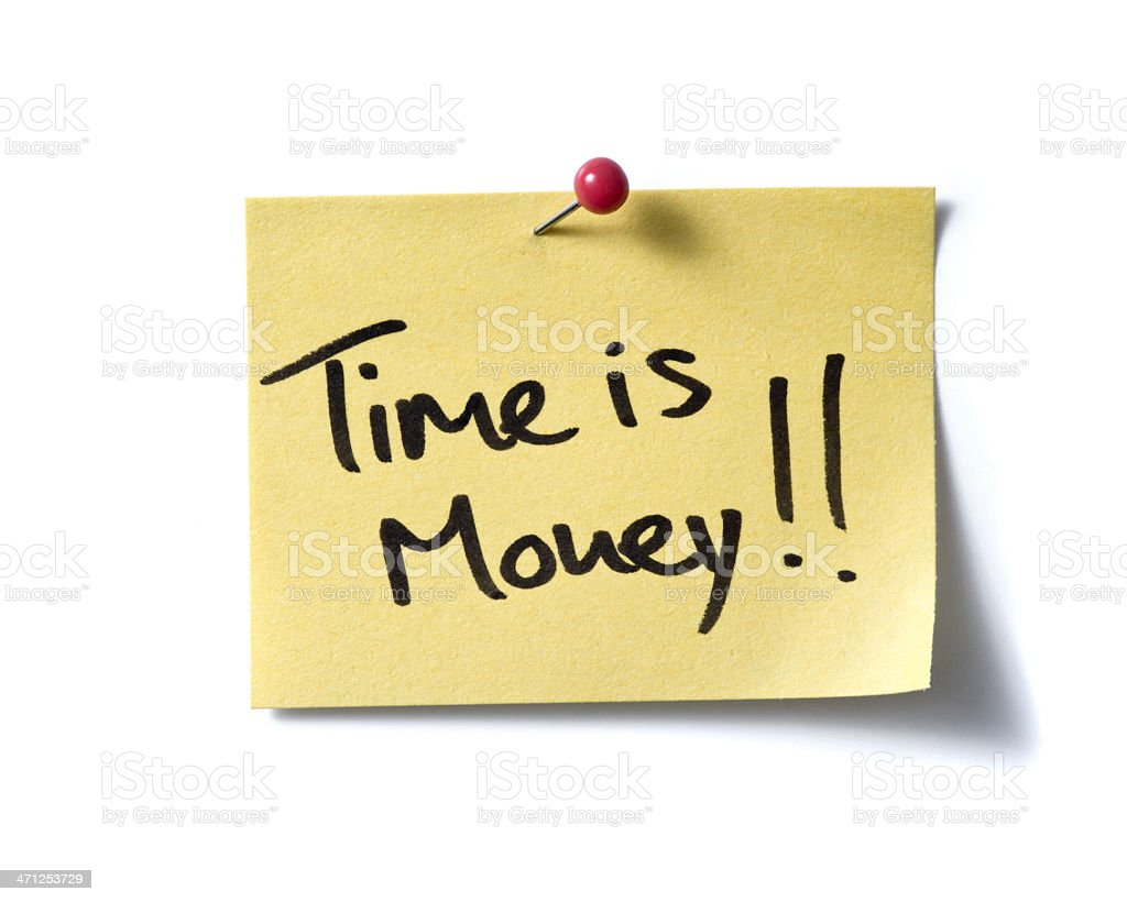 Time is money! post-it. stock photo