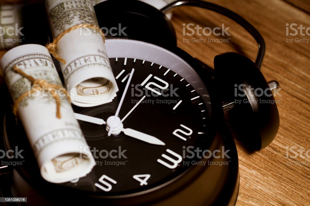 Representing the relationship between time and money, the...